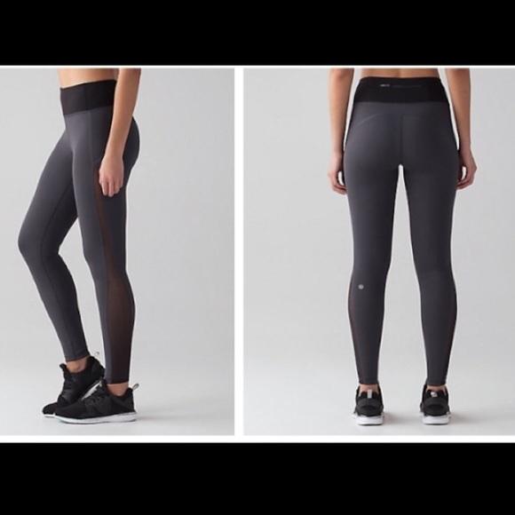 ae7e342917628 lululemon athletica Pants | Lululemon 78 Greyblack Leggings With ...